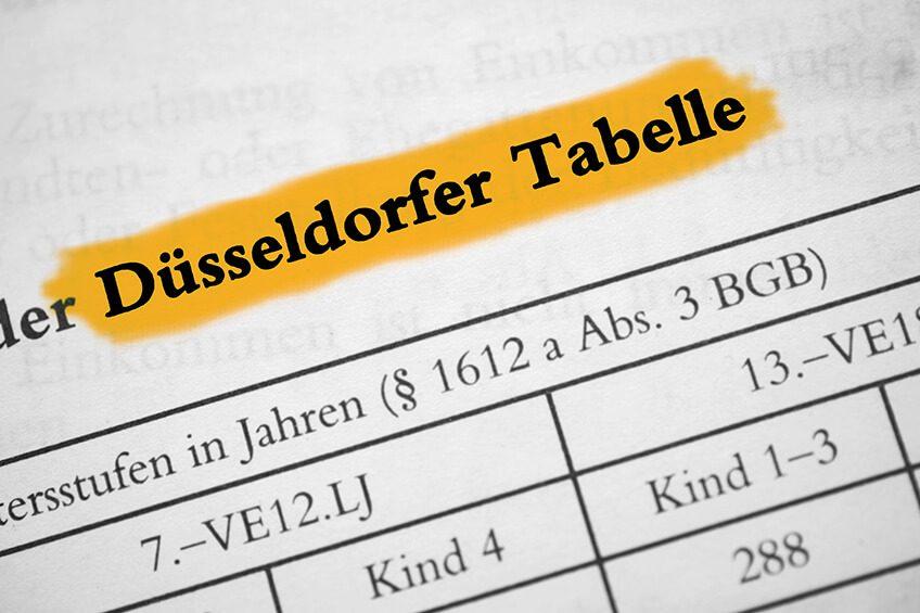 Düsseldorfer Tabelle 2016: Mehr Unterhalt für Scheidungskinder
