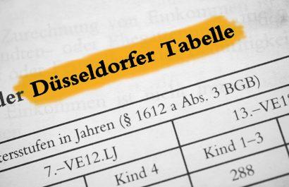 Düsseldorfer Tabelle 2021: Was Sie jetzt wissen müssen